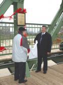 Újpesti vasúti Duna-híd emlékműállítás